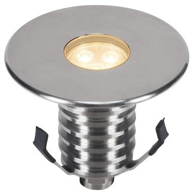 LED Bodeneinbauleuchte Dasar Premium, IP67. rund, Edelstahl 316. 24°, IP67