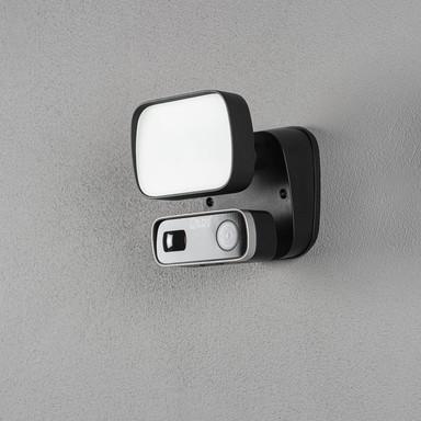 LED Smartlight mit Kamera in Schwarz 10W 1000lm IP54