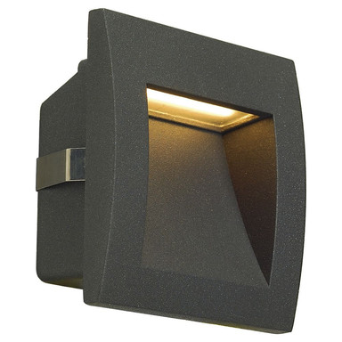 LED Wandeinbauleuchte Downunder Out S, IP55. 3000K, anthrazit