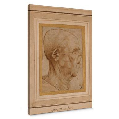Leinwandbild da Vinci - Karikatur eines Männerkopfes im Profil