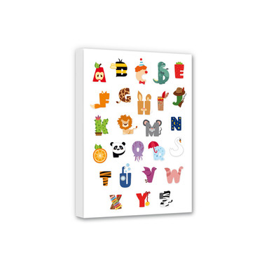Leinwandbild Kinder Alphabet