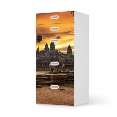 Möbel Klebefolie IKEA Stuva / Fritids Kommode - 5 Schubladen - Angkor Wat- Bild 1