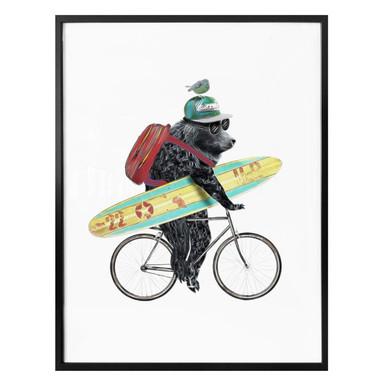 Poster mit Surfing Bear