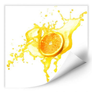 Wallprint Splashing Oranges - quadratisch