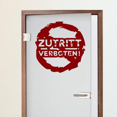 Wandtattoo Zutritt verboten! 02