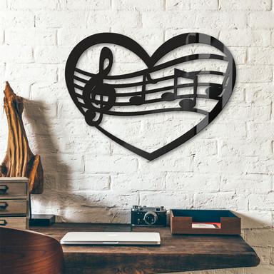 Acryldeko Musik Herz