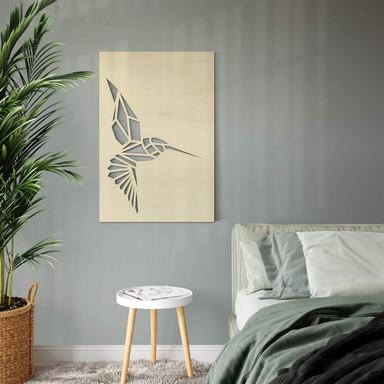 Dekobild Pappel - Origami Kolibri