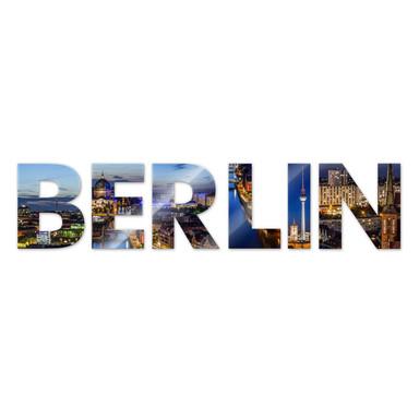 Dekobuchstaben Berlin 02 + 8 Klebepads