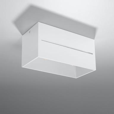 famlights | Deckenaufbauleuchte Esther aus Aluminium in Weiss G9 2x40 W