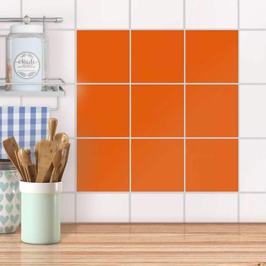 Fliesenaufkleber unifarben - Orange Dark