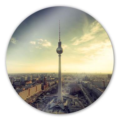 Glasbild Berliner Fernsehturm Panorama - rund
