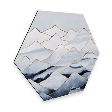 Hexagon - Alu-Dibond Fredriksson - Die Berge