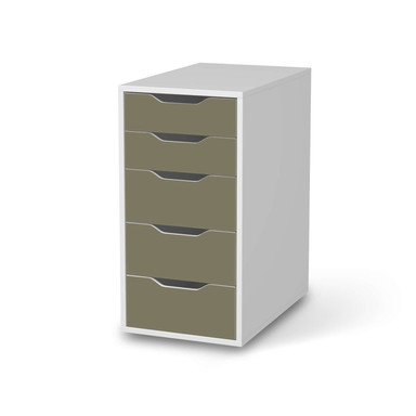 Klebefolie IKEA Alex 5 Schubladen - Braungrau Light