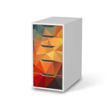 Klebefolie IKEA Alex 5 Schubladen - Polygon