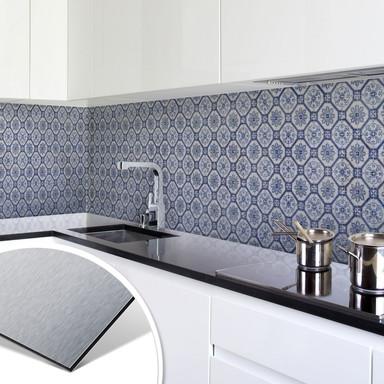 Küchenrückwand - Alu-Dibond-Silber - Holland Kacheln 01