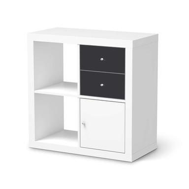Möbelfolie IKEA IKEA Expedit Regal Schubladen - Grau Dark