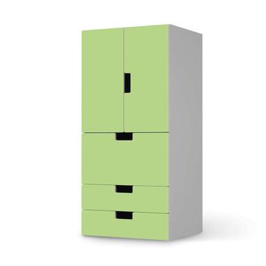 Möbelfolie IKEA Stuva / Malad - 3 Schubladen und 2 kleine Türen - Hellgrün Light