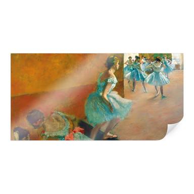 Poster Degas - Tänzerinnen auf einer Treppe - Panorama