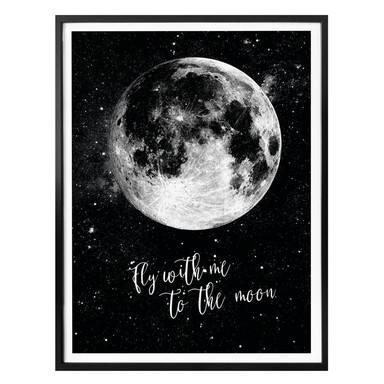 Poster - Fly with me to the moon