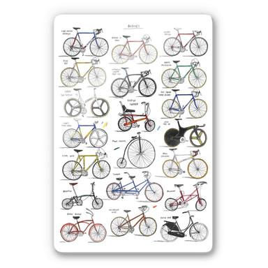 Glasbild Sparshott - Fahrräder