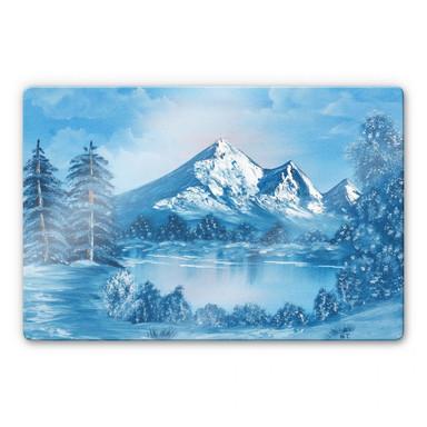 Glasbild Toetzke - Alpsee in den Bergen