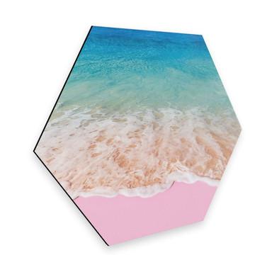 Hexagon - Alu-Dibond Fuentes - Pink Sand
