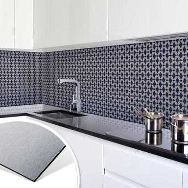 Küchenrückwand - Alu-Dibond-Silber - Holland Kacheln 02