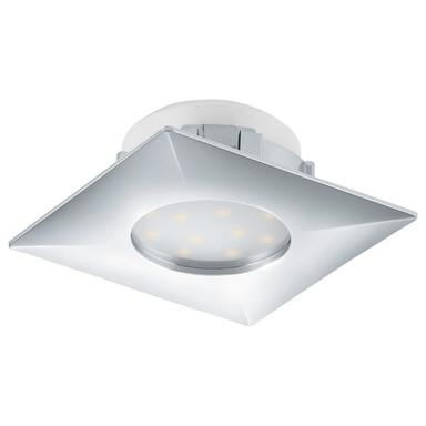 LED Einbauleuchte, starr, 500lm, 78x78mm, eckig, chrom