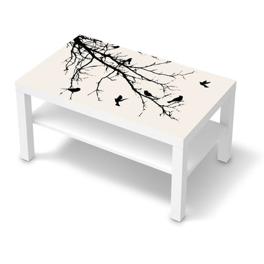Möbelfolie IKEA Lack Tisch 90x55cm - Tree and Birds 1