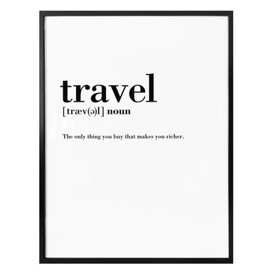 Poster Grammatik - Travel