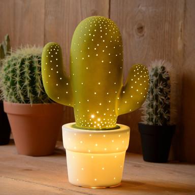 Tischleuchte Cactus, Keramik, E14. grün