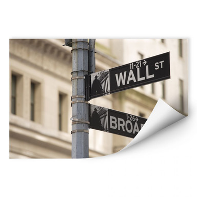 Wallprint Wallstreet