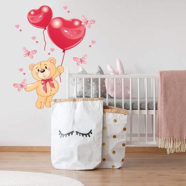 Wandsticker Bärchen mit Luftballon