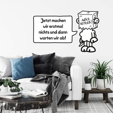 Wandsticker sheepworld Worthelden Ausser Betrieb!