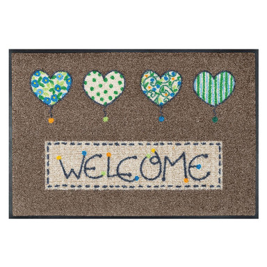 Wash&Dry Fussmatte Welcome Hearts 50x75cm