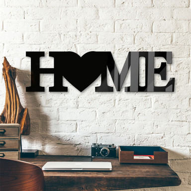 Acrylbuchstaben Home - Heart & 8 Klebepads