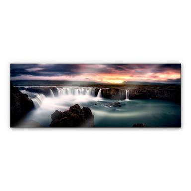 Acrylglasbild Mitterwallner - Fire and Water - Panorama
