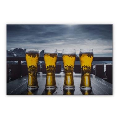 Alu-Dibond Bild Eiskaltes Bier