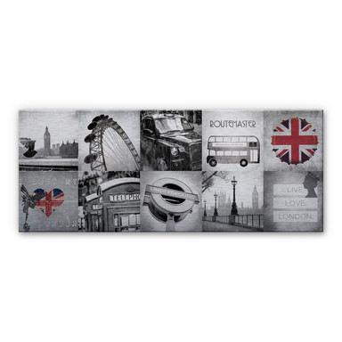 Alu-Dibond Bild Impressions of London - Panorama - Bild 1