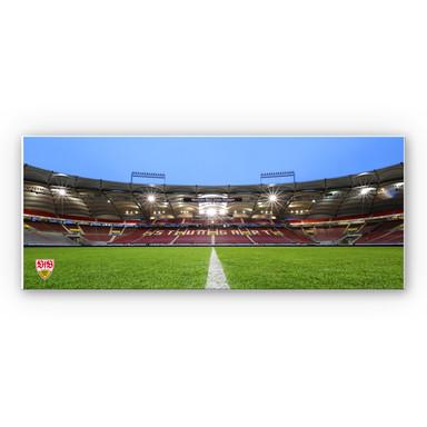 Hartschaumbild VfB Stuttgart Arena Tribüne - Panorama