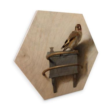 Hexagon - Holz Fabritius - Der Distelfink