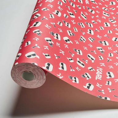 Karl Lagerfeld Wallpaper Vliestapete Ikonik rot, schwarz, weiss