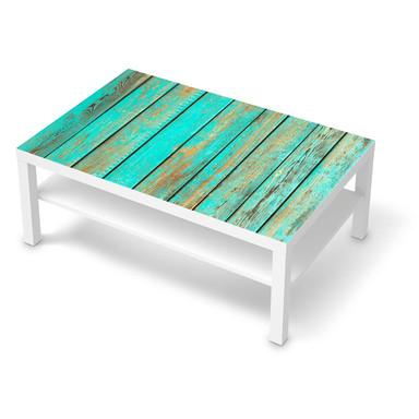 Klebefolie IKEA Lack Tisch 118x78cm - Wooden Aqua- Bild 1