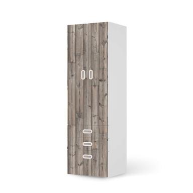 Klebefolie IKEA Stuva / Fritids - 3 Schubladen und 2 grosse Türen - Dark washed- Bild 1
