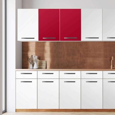 Klebefolie - Wandschrank 80cm Breite - Rot Dark