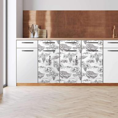 Küchenfolie - Unterschrank 120cm Breite - Vineyard