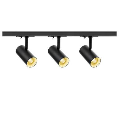 LED 1-Phasenschienen Set inkl. 3xSpott Noblo in Schwarz