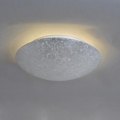 LED Wand- und Deckenleuchte Discus in silber