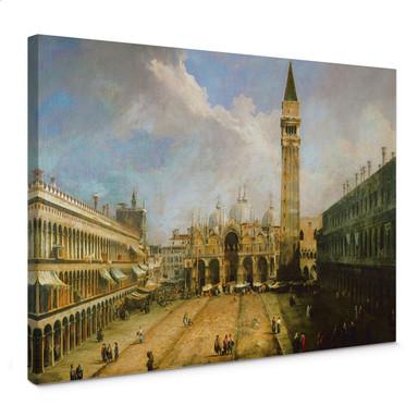 Leinwandbild Canaletto - Die Piazza San Marco