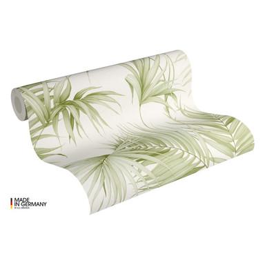 Michalsky Living Vliestapete Dream Again Tapete mit Palmenprint in Dschungel Optik creme, weiss, grün